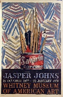 Savarin, Jasper Johns Exhibit at the Whitney Museum Poster 1977 45x30 Super Huge  Limited Edition Print by Jasper Johns - 0