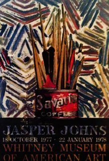 Savarin poster 1977 46x30 Huge Limited Edition Print - Jasper Johns