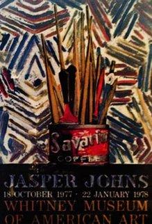 Savarin poster 1977 46x30 Super Huge Limited Edition Print - Jasper Johns