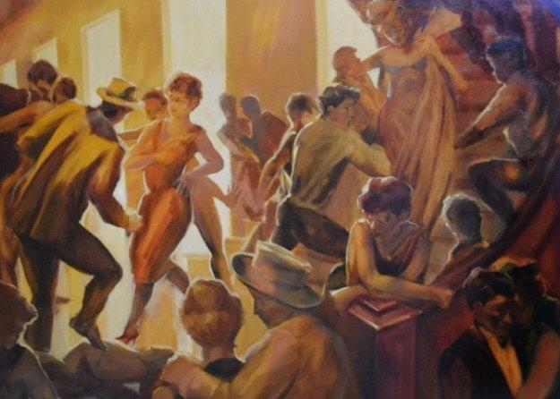 Interlude 45x34 Original Painting by David Richey Johnsen