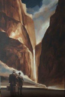 Untitled Painting 60x36 Super Huge Original Painting - David Richey Johnsen