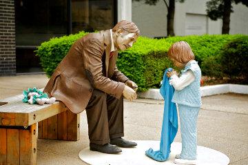 Generation Bridge Bronze Sculpture 1983 41 in Sculpture - J. Seward Johnson