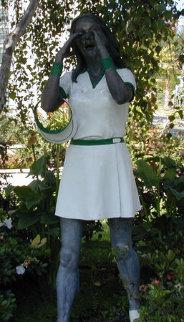 Calling Girl Sculpture Sculpture - J. Seward Johnson