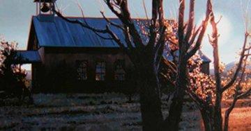Sunrise At Llano 1997 26x44 Original Painting - Roger Hayden Johnson