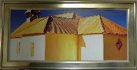 Chapel Roof 2006 34x68 Super Huge Original Painting by Roger Hayden Johnson - 1
