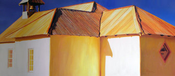 Chapel Roof 2006 34x68 Original Painting - Roger Hayden Johnson