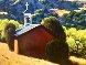Chapel, Black Mesa 2006 47x69 Original Painting by Roger Hayden Johnson - 3