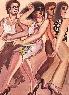 Street Scene White Dress 1980 Limited Edition Print by Lester Johnson