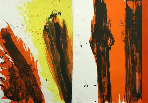 Totem Diptych PP  1979 Limited Edition Print by Allen Jones