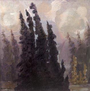 Silver Lake 2014 18x17 Original Painting - Marc Jordan