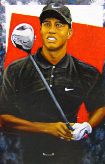 Grand Master - Tiger Woods 2006 72x48 Huge Original Painting - Michael Joseph