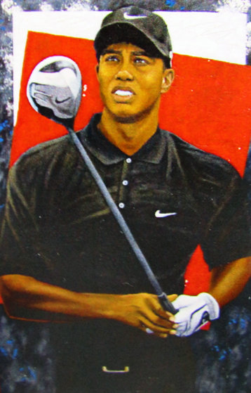 Grand Master - Tiger Woods 2006 72x48  Original Painting by Michael Joseph