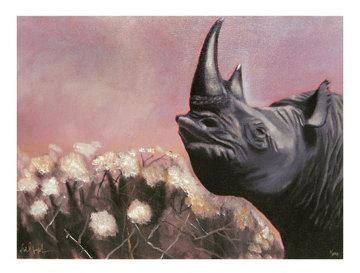 Rhino Dusk 2008 Limited Edition Print by Michael Joseph