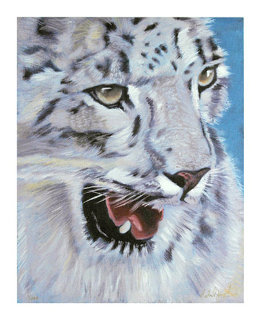 Snow Leopard Limited Edition Print by Michael Joseph