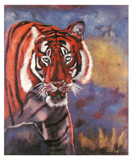 Tiger in the Woods 2008 Limited Edition Print by Michael Joseph