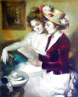 La Carta 1971 50x42 Original Painting - Jose Puyet