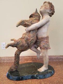 Cat Walk Bronze Sculpture 1999 30 in Sculpture by Jerry Joslin