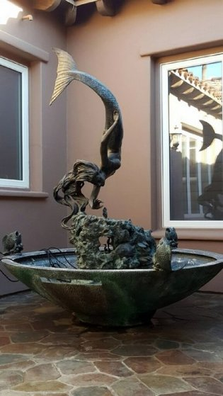 Glory of the Seas - Life Size Monument Fountain 88x69 Sculpture by Jerry Joslin