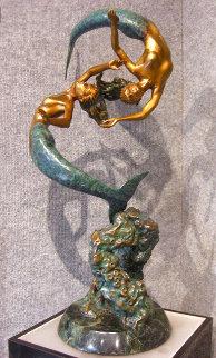 Enchanted Sea Bronze Sculpture 23 in Sculpture - Jerry Joslin