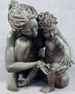 Testing the Waters Bronze Sculpture AP 1991 21 in Sculpture - Jerry Joslin