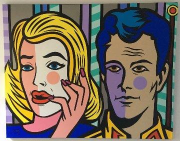 Contemplation 2016 39x50 Original Painting by  Jozza