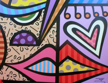 Faces I 2014 30x40 Original Painting -  Jozza