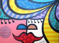 Faces V 30x40 Super Huge  Original Painting by  Jozza - 0