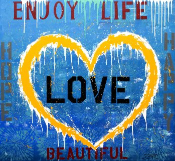 Enjoy Life 2018 55x60 Super Huge Original Painting -  Jozza