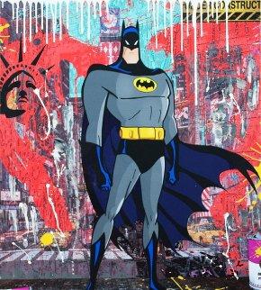Bat Apple 2018 36x30 Original Painting by  Jozza