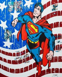 Superman Comics  2018 60x48 Original Painting by  Jozza