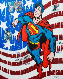 Superman Comics  2018 60x48 Original Painting -  Jozza