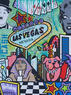 Vegas  2018 48x36 Original Painting -  Jozza