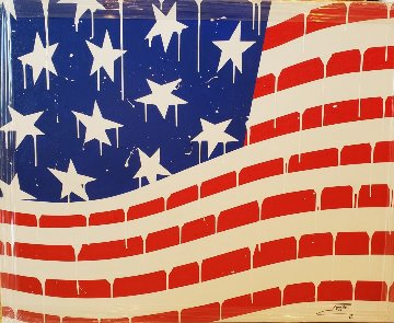 Usa Flag #3 2018 40x50 Super Huge Original Painting -  Jozza