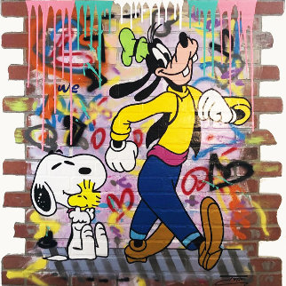 Goofy\'s New Friend 2019 48x48 Original Painting -  Jozza