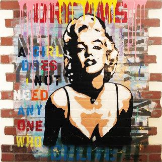 Marilyn Dreams 2019 48x48 Original Painting -  Jozza