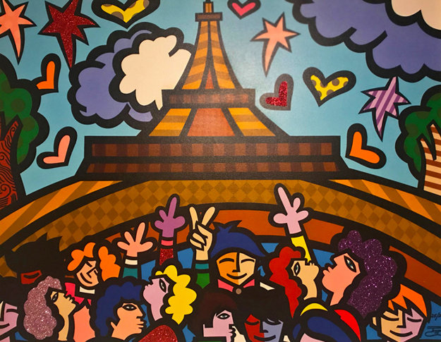 Eiffel Tower Embellished Limited Edition Print by  Jozza