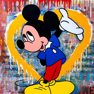 Big Heart 2019 40x40 Original Painting by  Jozza