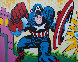 Captain America 2019 48x60 Original Painting by  Jozza - 0