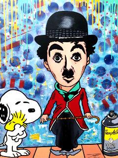 Chaplin Cartoon 2019 36x48 Original Painting -  Jozza