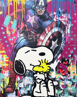 Snoopy's Friend 2019 30x24 Original Painting by  Jozza