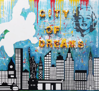 City of Dreams 2019 60x54 Huge  Original Painting -  Jozza