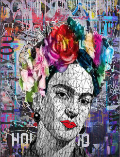 Frida Kahlo 2019 41x31 Original Painting by  Jozza