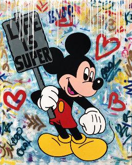 Mickey Super Life 2019 48x60 Original Painting -  Jozza