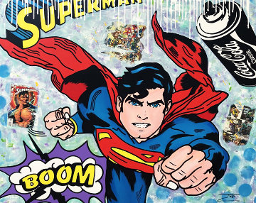 Super Comics #2 2019 48x60 Super Huge Original Painting -  Jozza