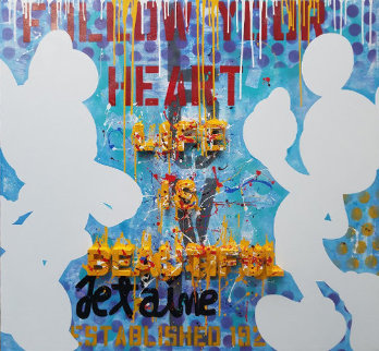 Life is Beautiful 2018 60x54 Original Painting by  Jozza