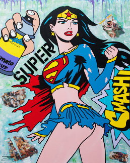 Super Girl 2019  60x48 Original Painting by  Jozza