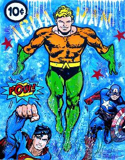 Aquaman 2020 48x40 Original Painting -  Jozza