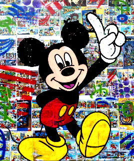 Mickey Comic 2020 48x40 Disney Super Huge Original Painting -  Jozza