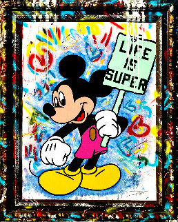 Life is Super 2020 59x47 Disney Original Painting -  Jozza