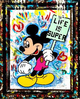 Life is Super 2020 59x47 Disney Huge Original Painting -  Jozza